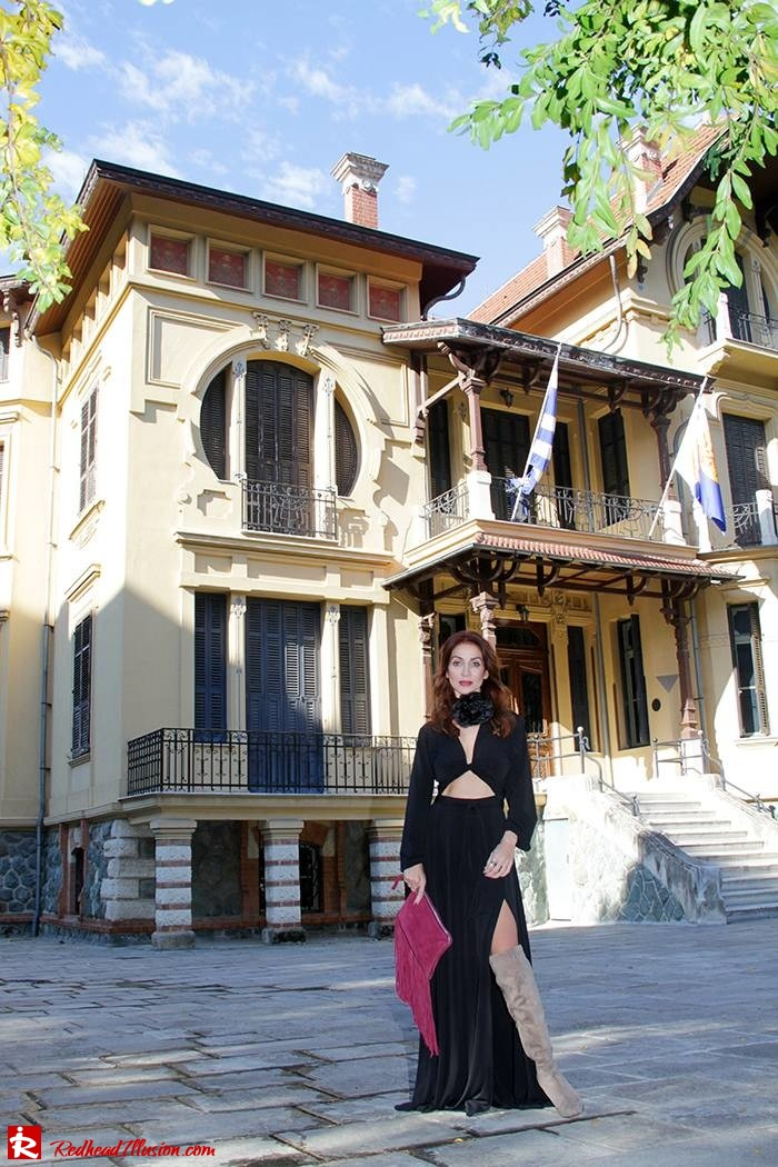 Redhead Illusion - Fashion Blog by Menia - Black Flower - Black Dress - Zara Bag-04