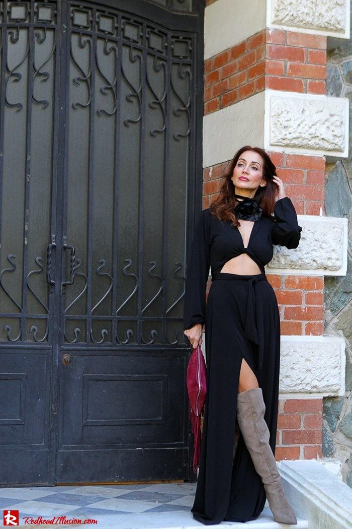 Redhead Illusion - Fashion Blog by Menia - Black Flower - Black Dress - Zara Bag-06