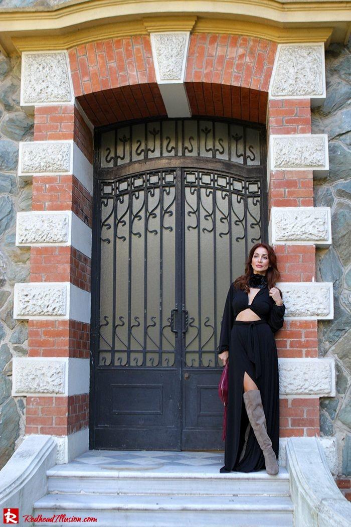 Redhead Illusion - Fashion Blog by Menia - Black Flower - Black Dress - Zara Bag-07
