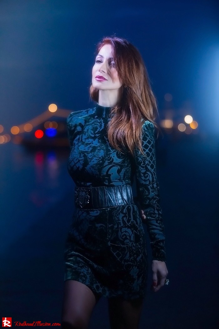 Redhead Illusion - Fashion blog by Menia - Christmas Night Vision - Balmain Dress-03