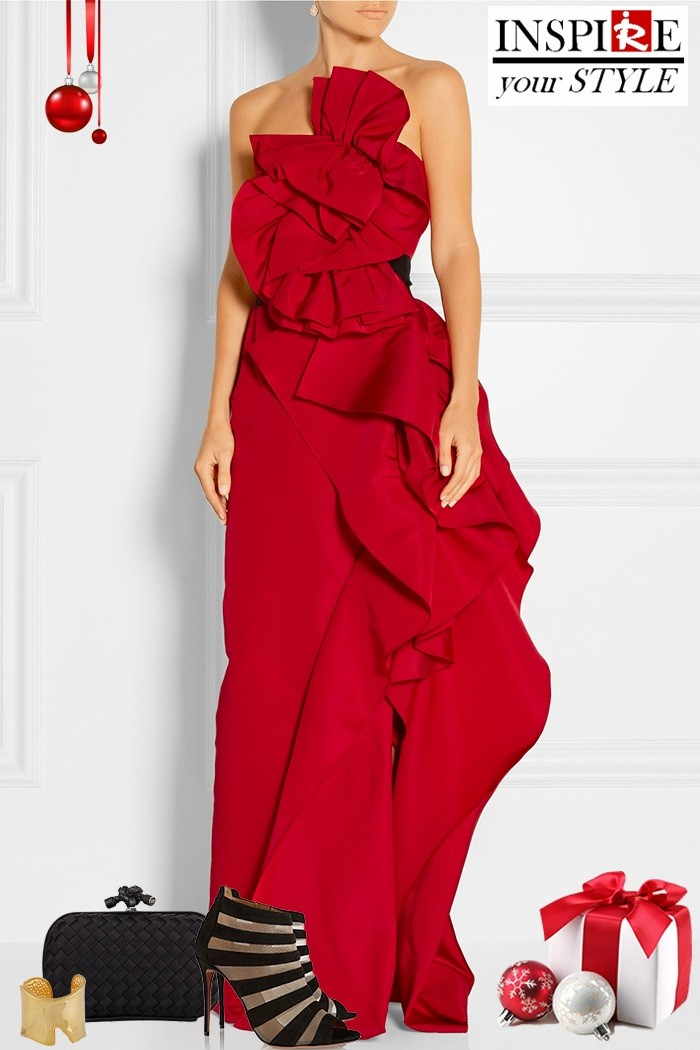 Redhead Illusion - Fashion Blog by Menia - Inspire your style - Red- Ruffled Gown-03
