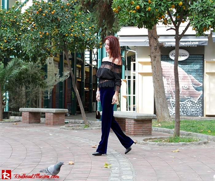 Redhead Illusion - Fashion Blog by Menia - Lace and Velvet - Victoria's Secret Blouse-03
