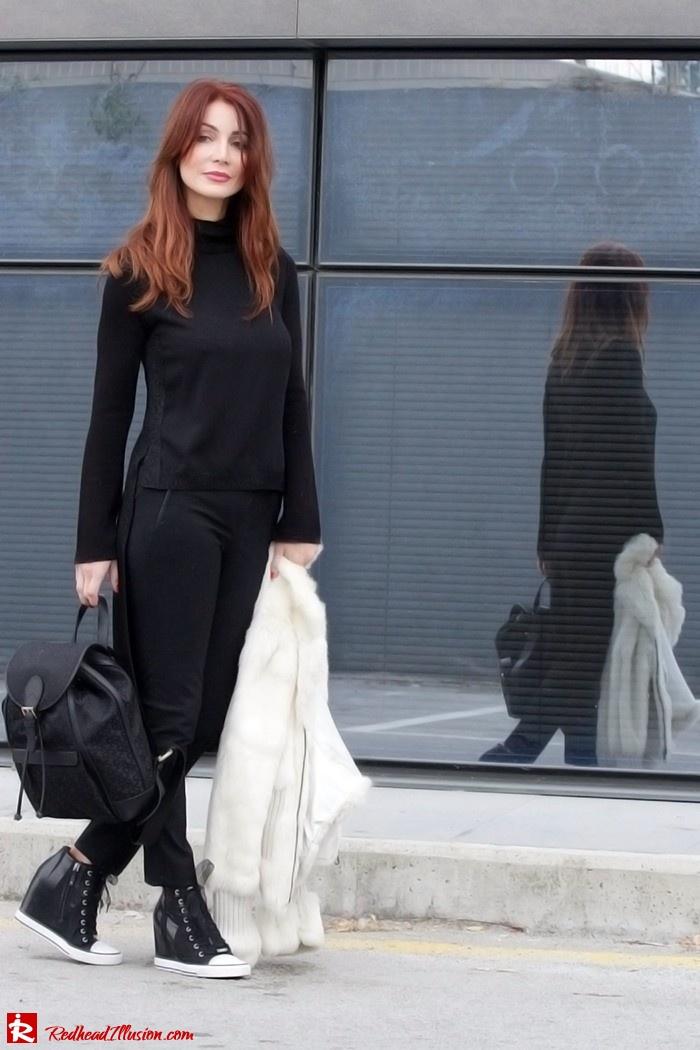 Redhead Illusion - Fashion Blog by Menia - Two of a kind - Zara Pants - Denny Rose Vest-06