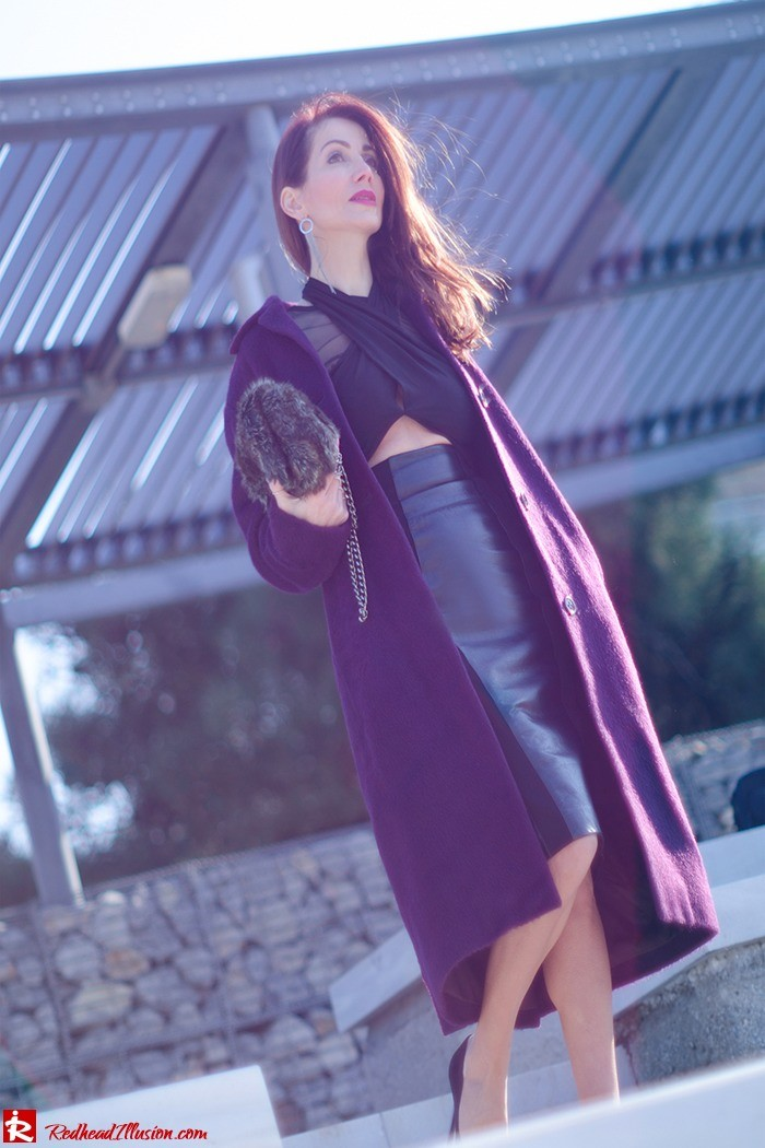 Redhead Illusion - Fashion Blog by Menia - A cropped... day - Yoins Top - Zini Skirt - Boss Coat-02