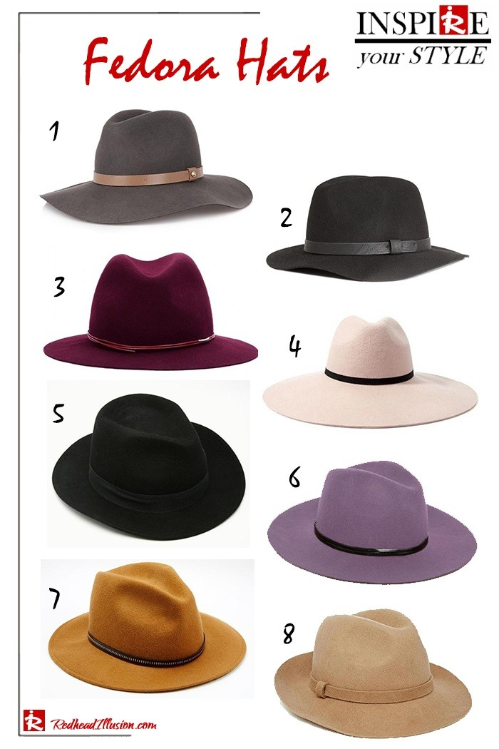 Inspire your style – Fedora hats!