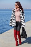Redhead Illusion - Fashion Blog by Menia - Walk along the waterfront - ( OTK ) Over the knee Boots-01