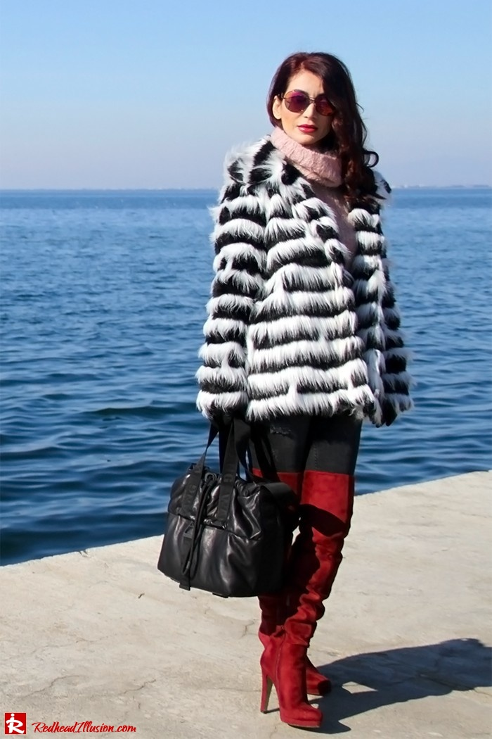 Redhead Illusion - Fashion Blog by Menia - Walk along the waterfront - ( OTK ) Over the knee Boots-11