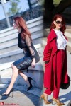 Redhead Illusion - Fashion Blog by Menia - Lately - Zini Skirt - Red Ensemble - Miu Miu Bag