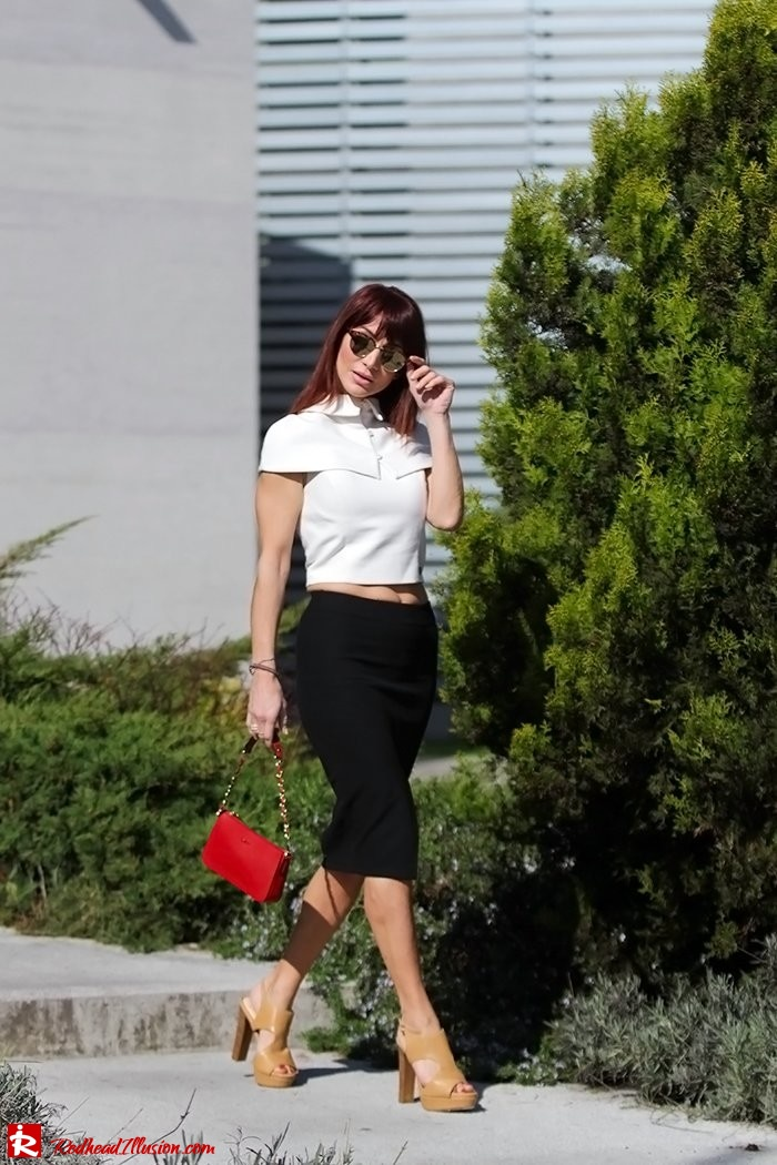 Redhead Illusion - Fashion Blog by Menia - Preppy but sexy too - Zara Pencil Skirt-02
