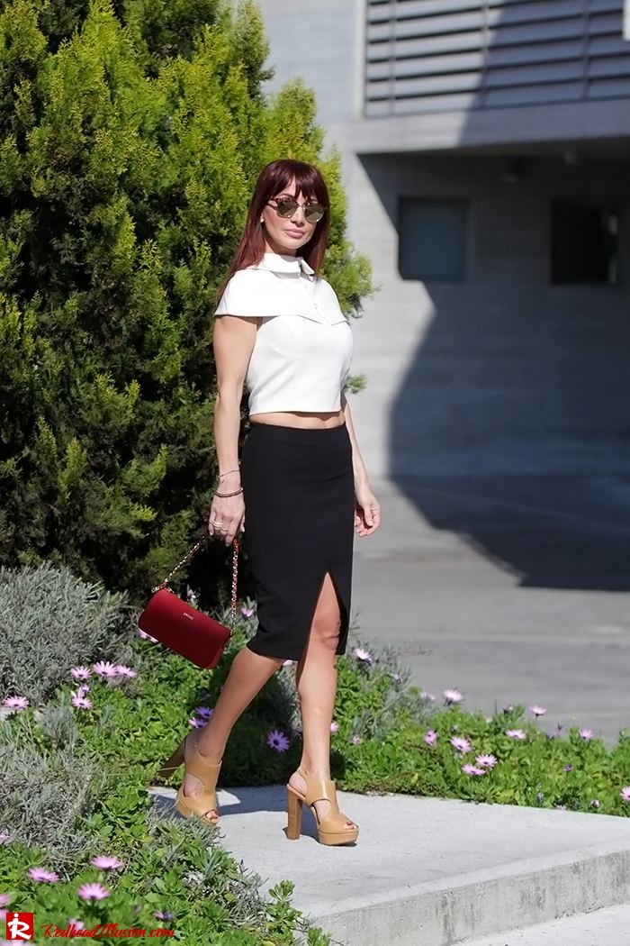 Redhead Illusion - Fashion Blog by Menia - Preppy but sexy too - Zara Pencil Skirt-07