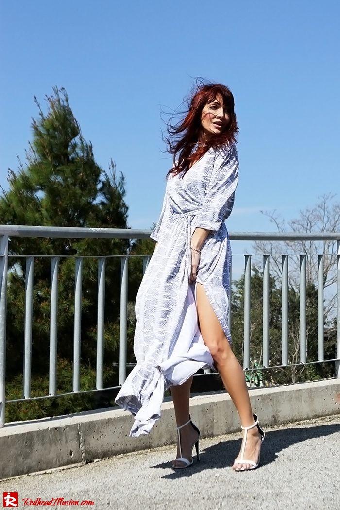 Redhead Illusion - Fashion Blog by Menia - Twisting around - Wrap Maxi Dress-04