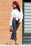 Redhead Illusion - Fashion Blog by Menia - Off-the-shoulder - Sexy and Feminine - Denny Rose Shirt - Kick Flare Jeans-01