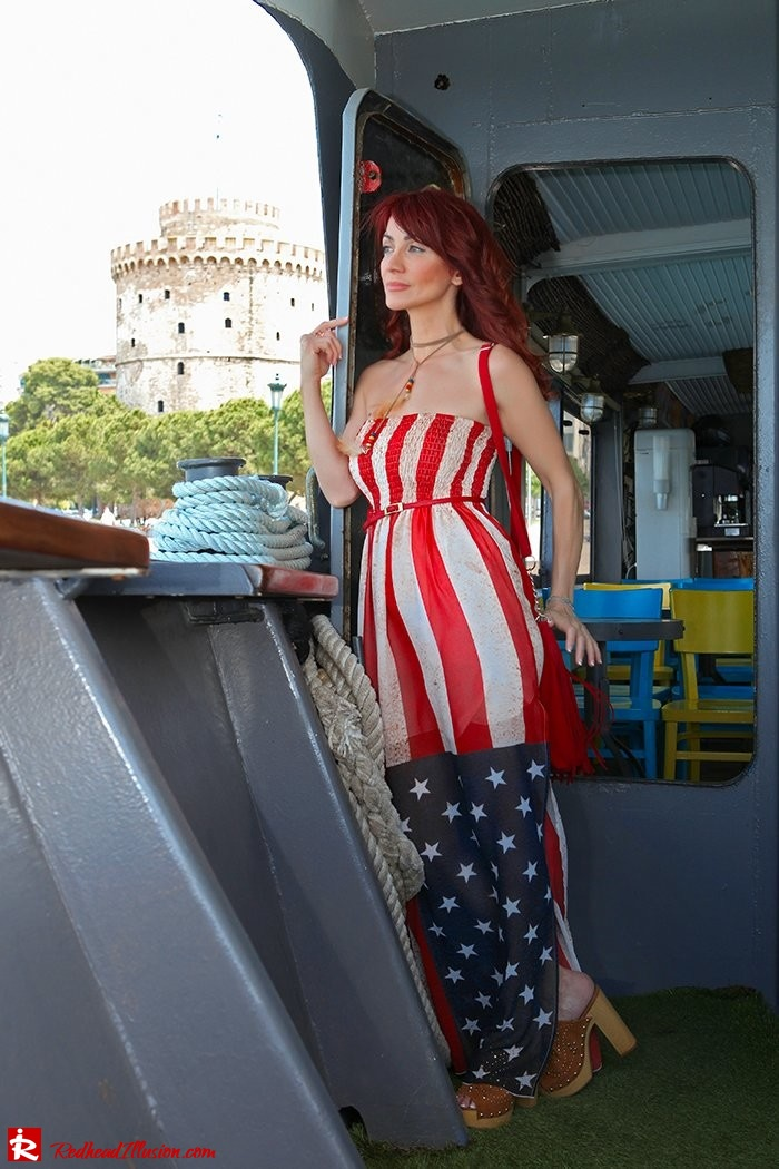Redhead Illusion - Fashion Blog by Menia - Next exit: American Dream - Denny Rose Dress - H&M Clogs-03