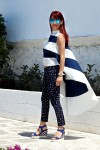 Redhead Illusion - Fashion Blog by Menia - The stripes we love - Striped Blouse - Wedges-01