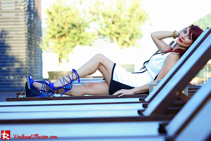 Redhead Illusion - Fashion Blog by Menia -Beside a Pool - Missguided Dress - Jessica Simpson Heels-03