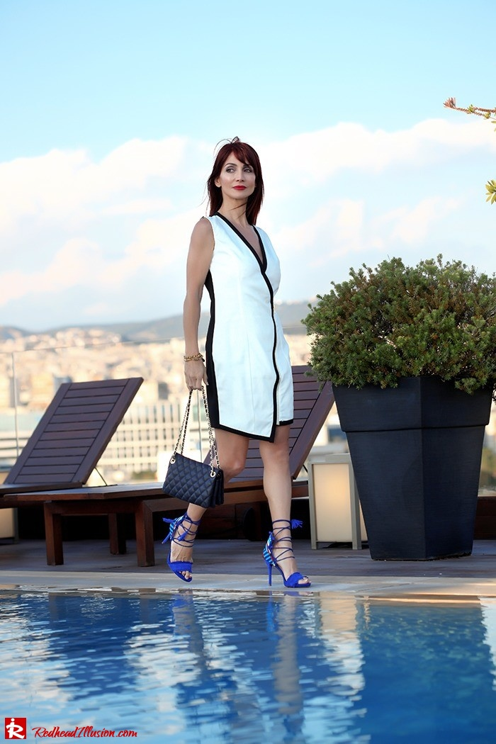 Redhead Illusion - Fashion Blog by Menia -Beside a Pool - Missguided Dress - Jessica Simpson Heels-11