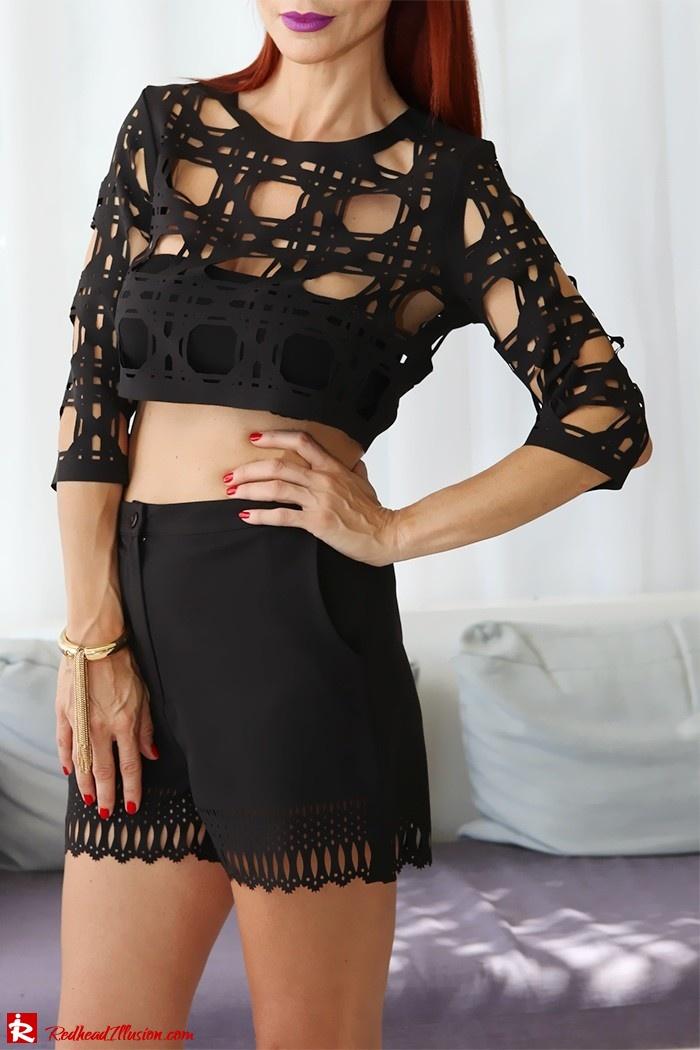 Redhead Illusion - Fashion Blog by Menia - Laser cut - Shorts - Mules - Crop Top-03
