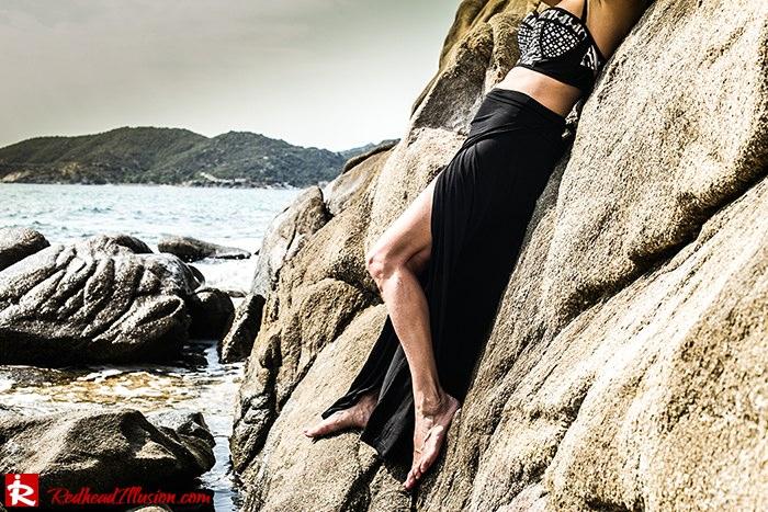 Redhead Illusion - Fashion Blog by Menia - On the rocks - Peter Pilotto - Bikini Top-07
