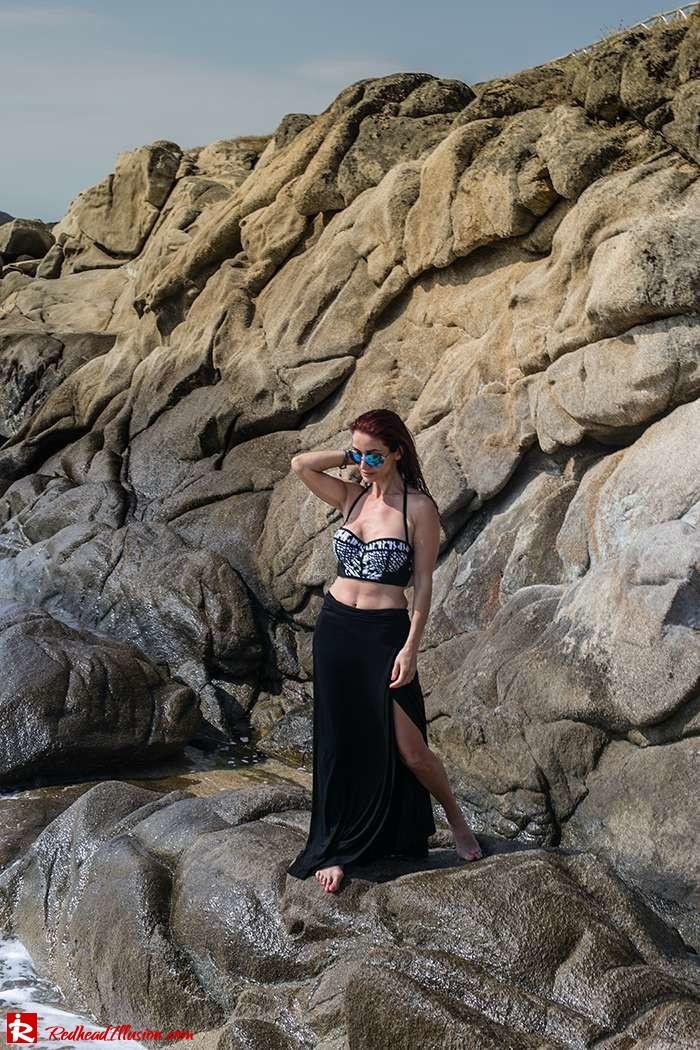 Redhead Illusion - Fashion Blog by Menia - On the rocks - Peter Pilotto - Bikini Top-10