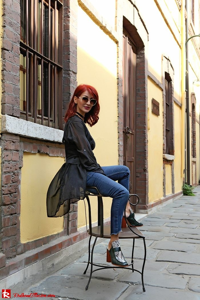 Redhead Illusion - Fashion Blog by Menia - Mind Travel Far Away - Zara Pants-02