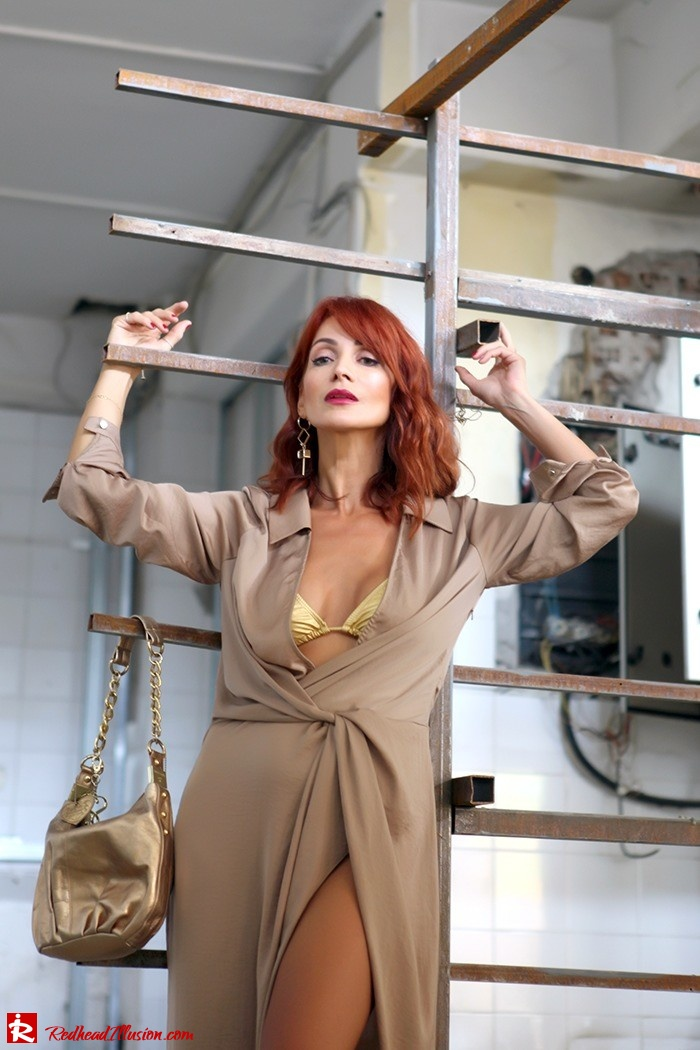 Redhead Illusion - Fashion Blog by Menia - Lately - October - 01 - Under Construction - Missguided Dress - Suzy Smith Bag