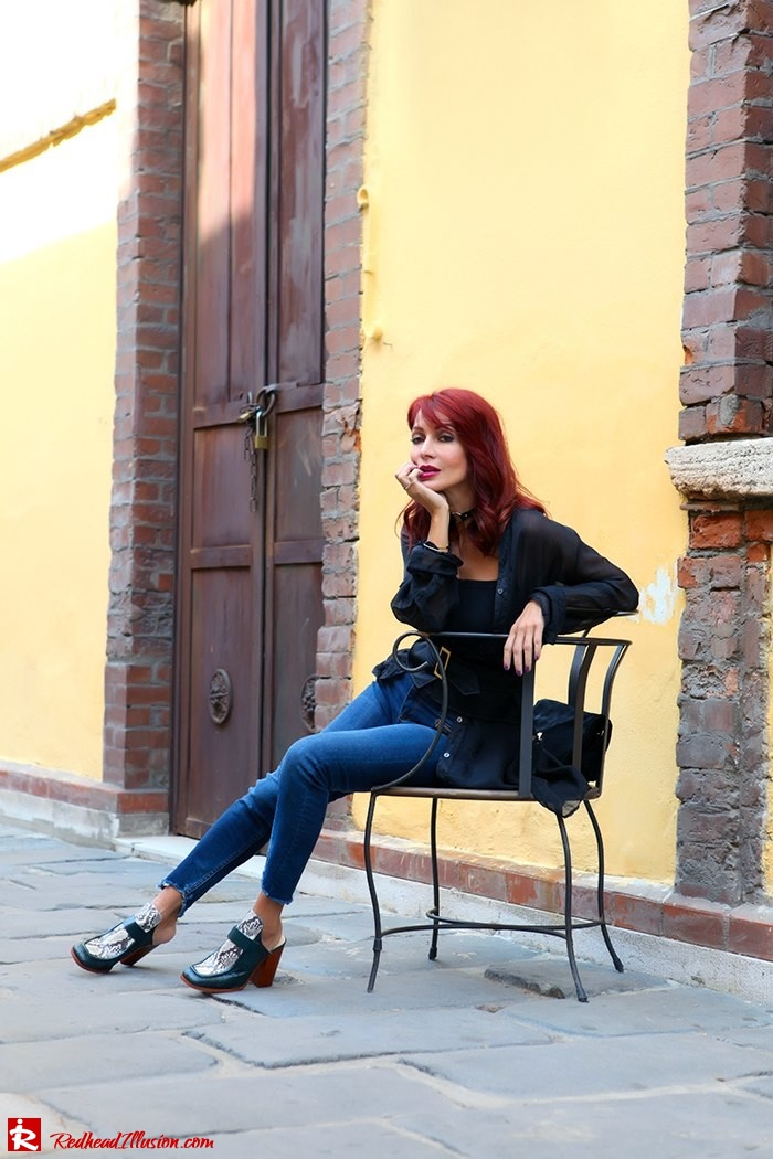 Redhead Illusion - Fashion Blog by Menia - Lately - October - 03 - Mind travel far away - Zara Pants
