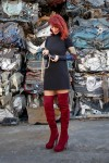 Redhead Illusion - Fashion Blog by Menia - Layering - Denny Rose - Blouse over the knee Boots-01