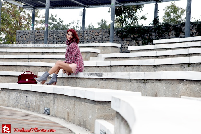 Redhead Illusion - Fashion Blog by Menia - Pink Affair - Knitted Sweater- Shein Skirt - Zara Booties-06