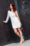 Redhead Illusion - Fashion Blog by Menia - Mini Winter White - Missguided Dress-01