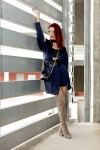 Redhead Illusion - Fashion Blog by Menia - Blues and Greys - Missguided Dress-01