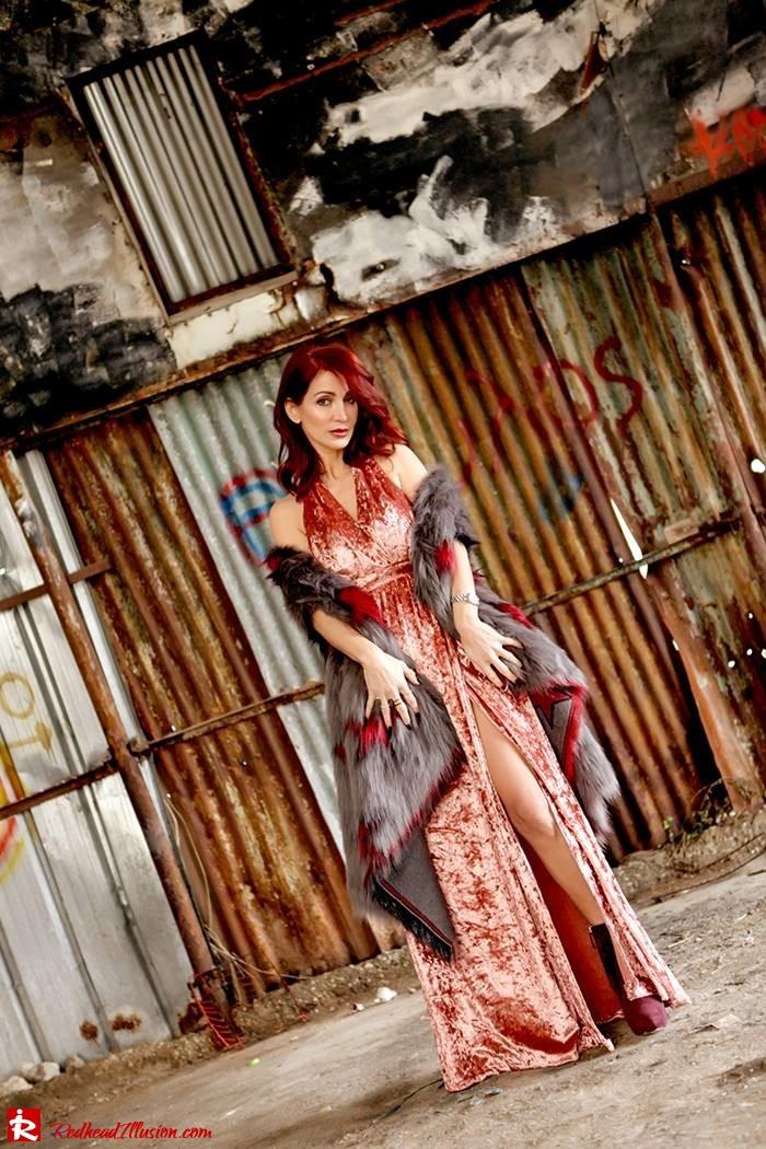 Redhead Illusion - Fashion Blog by Menia - So old so new - Missguided Dress-01