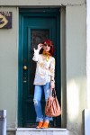 Redhead Illusion - Fashion Blog by Menia - Spring Fever - Jeans, Mules Zara - Scarf Hermes-01