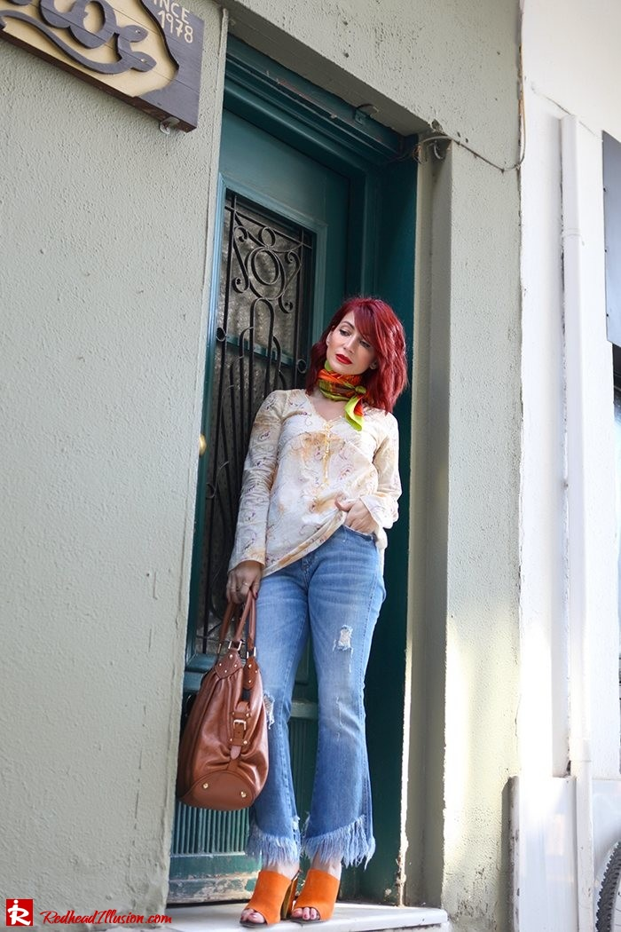 Redhead Illusion - Fashion Blog by Menia - Spring Fever - Jeans, Mules Zara - Scarf Hermes-05