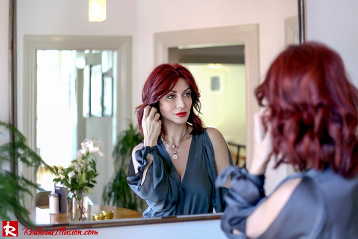 Redhead Illusion - Fashion Blog by Menia - A sense of relaxation - Lulus Maxi Dress-02