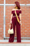 Redhead Illusion - Fashion Blog by Menia - Bordeaux - Lulu's Jumpsuit-01