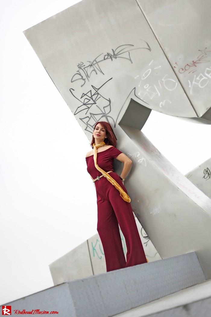 Redhead Illusion - Fashion Blog by Menia - Bordeaux - Lulu's Jumpsuit-04