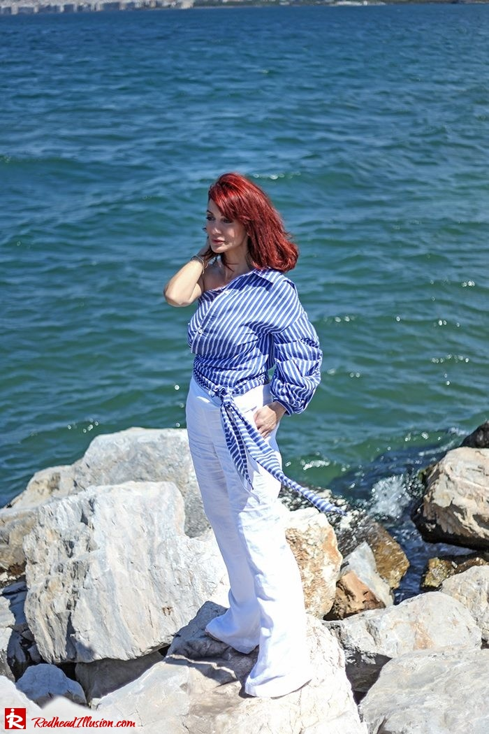 Redhead Illusion - Fashion Blog by Menia - Deconstruction - Shein Shirt-02