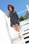 Redhead Illusion - Fashion Blog by Menia - Stripe...tease - Zara Dress and H&M Espadrilles-01