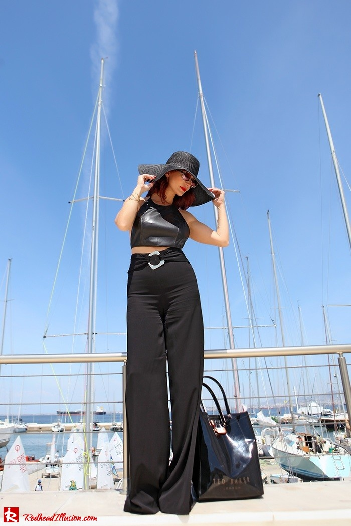 Redhead Illusion - Fashion Blog by Menia - Total Black is never boring - Zara Pants - Ted Baker Bag-09