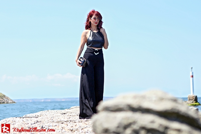 Redhead Illusion - Fashion Blog by Menia - Total Black is never boring - Zara Pants - Ted Baker Bag-10