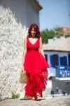 Redhead Illusion - Fashion Blog by Menia - Ethereal red - Shein Dress-01