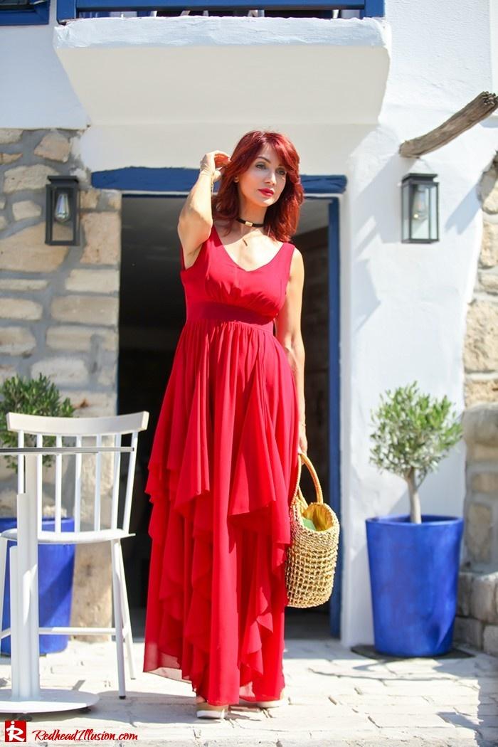 Redhead Illusion - Fashion Blog by Menia - Ethereal red - Shein Dress-04