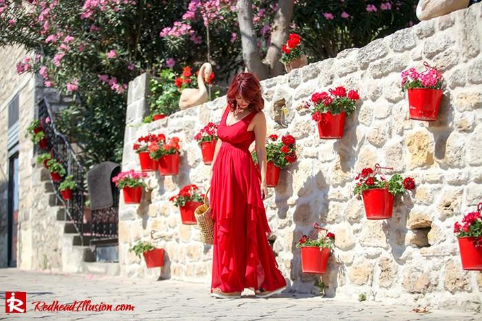 Redhead Illusion - Fashion Blog by Menia - Ethereal red - Shein Dress-05