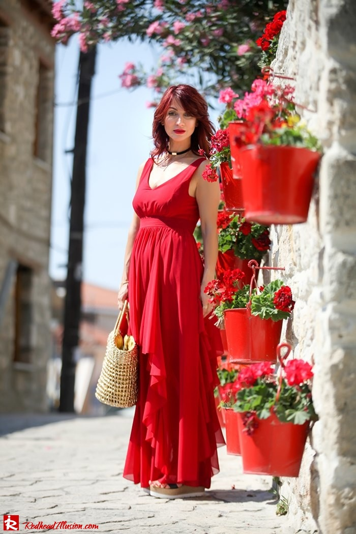 Redhead Illusion - Fashion Blog by Menia - Ethereal red - Shein Dress-07