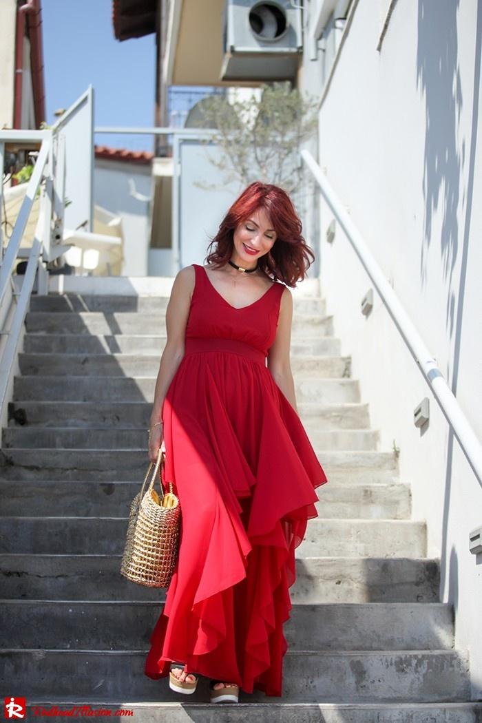 Redhead Illusion - Fashion Blog by Menia - Ethereal red - Shein Dress-08