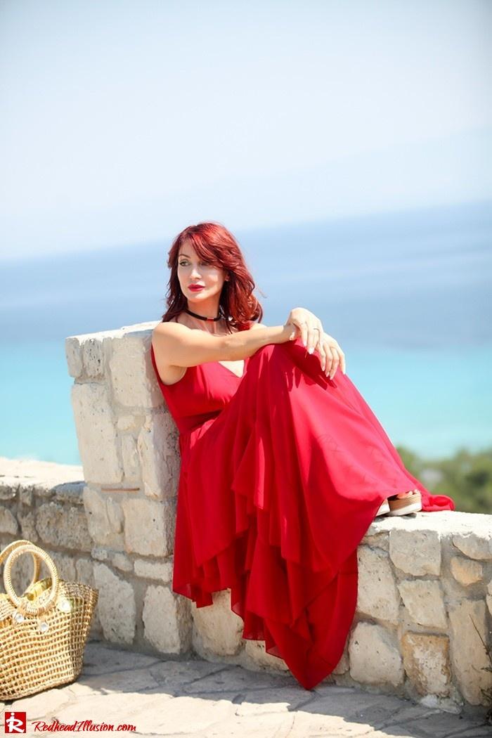 Redhead Illusion - Fashion Blog by Menia - Ethereal red - Shein Dress-09