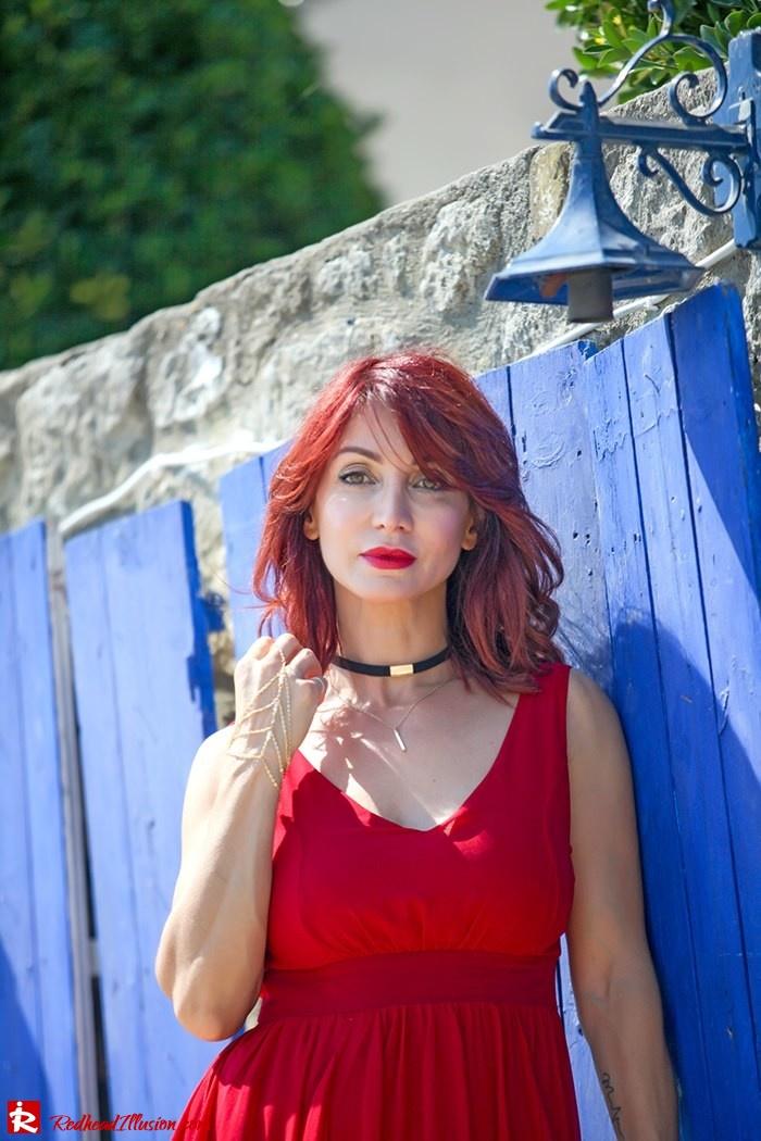 Redhead Illusion - Fashion Blog by Menia - Ethereal red - Shein Dress-11