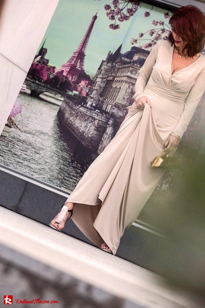 Redhead Illusion - Fashion Blog by Menia - Editorial - Mind Trap - Lulus Maxi Dress - Suzy Smith Clutch-02