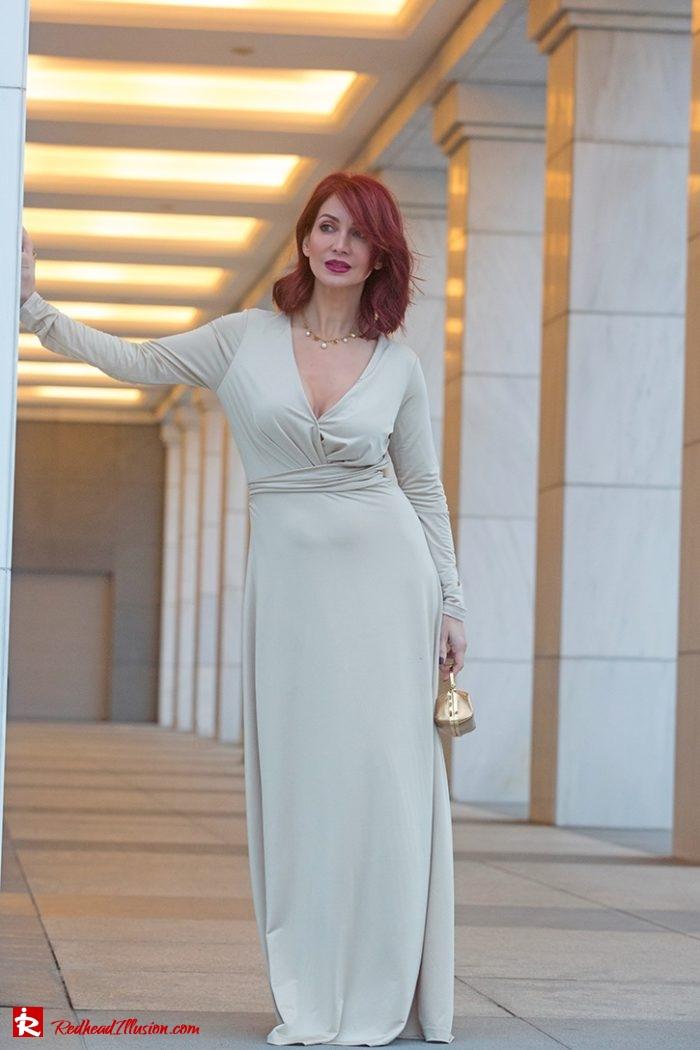 Redhead Illusion - Fashion Blog by Menia - Editorial - Mind Trap - Lulus Maxi Dress - Suzy Smith Clutch-08