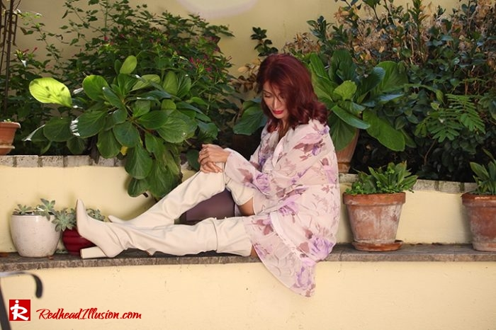 Redhead Illusion - Fashion Blog by Menia - Editorial - Blossoming Autumn - Missguided Dress-02